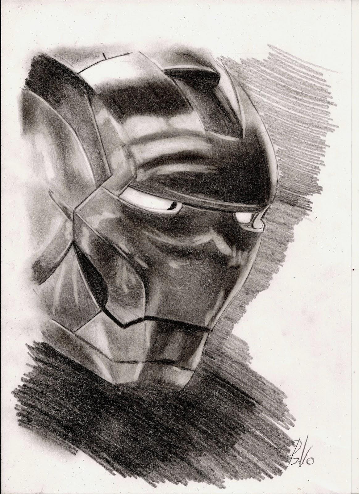 Como Dibujar Iron Man Lápiz Para Wwwfrescoimagenescom