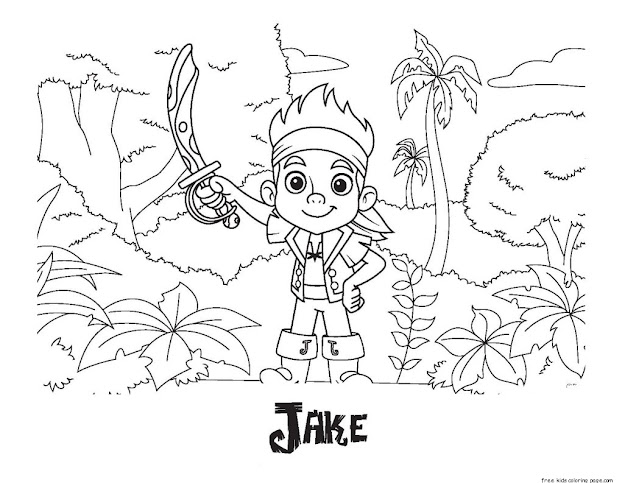 Pages Of Jake And The Neverland Piratesfree Printable Coloring Pages