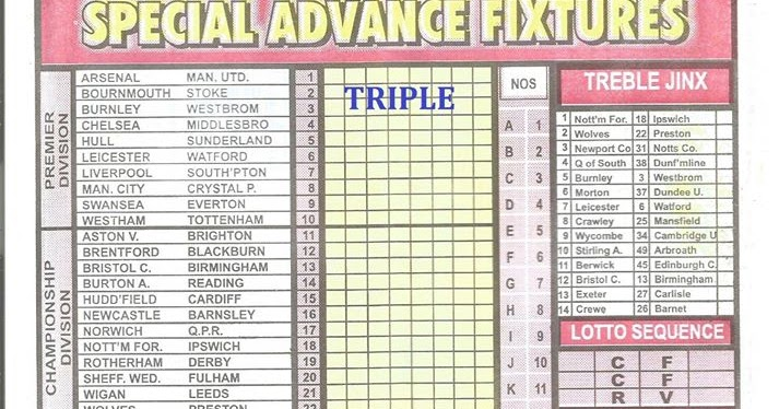 Pool coupon fixtures for this week