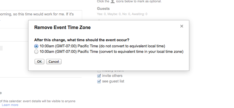 Change Google Calendar Time Zone Changing your time zone and