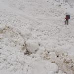Avalanche debris between Doban and Deurali