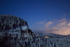 PLEINS FEUX     Pleine lune sur une pessière jurassienne