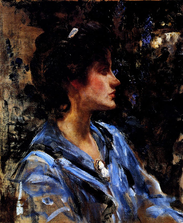 James Jebusa Shannon - Woman in Blue