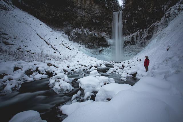 Brandywine Falls, winter. Photographer Isaac Wray