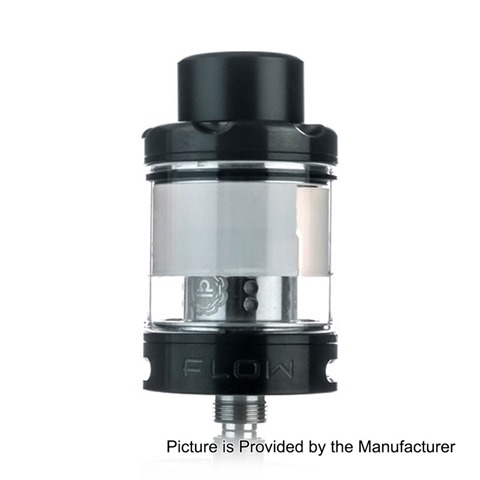 authentic-wotofo-flow-sub-ohm-tank-atomizer-black-316-stainless-steel-4ml-24mm-diameter