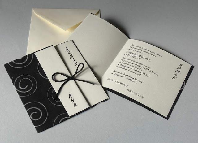 Invitación moderna para boda