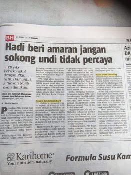 Penafian Berita Disiarkan Oleh akhbar Berita Harian