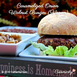 Walnut Red Rice Vegan Burger