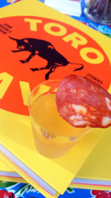 by the time I got to John gorham of Toro Bravo's booth, his Gazpacho with house made chorizo and Mahón cheese and octopus was reduced to only the gazpacho (still super delicious and refreshing) and the chorizo