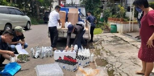 Timbun Dan Produksi Hand Sanitizer Secara Ilegal, 2 Orang Diciduk Polres Bekasi