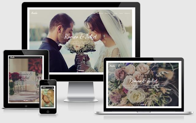 Areda Wedding Blogger Template free download