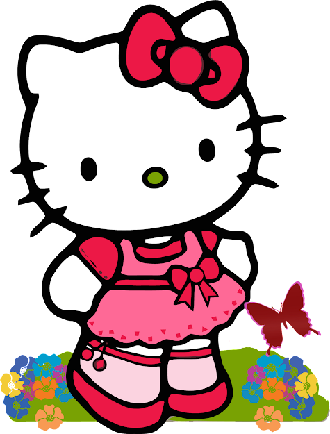 List Hello Kitty Part  In Amazing Hearts With Wings Coloring Pages