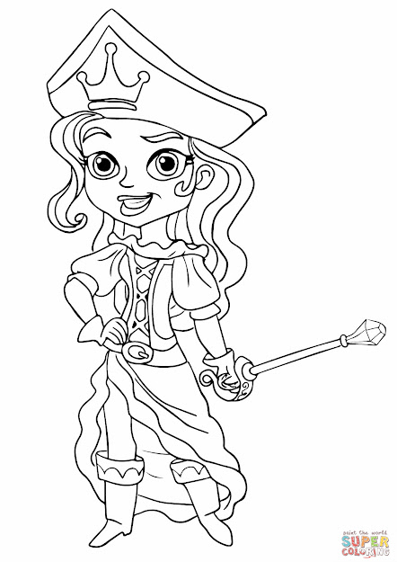 The Pirate Princess Coloring Page From Jake And The Neverland Pirates  Category Select From  Printable Crafts Of Cartoons Nature Animals