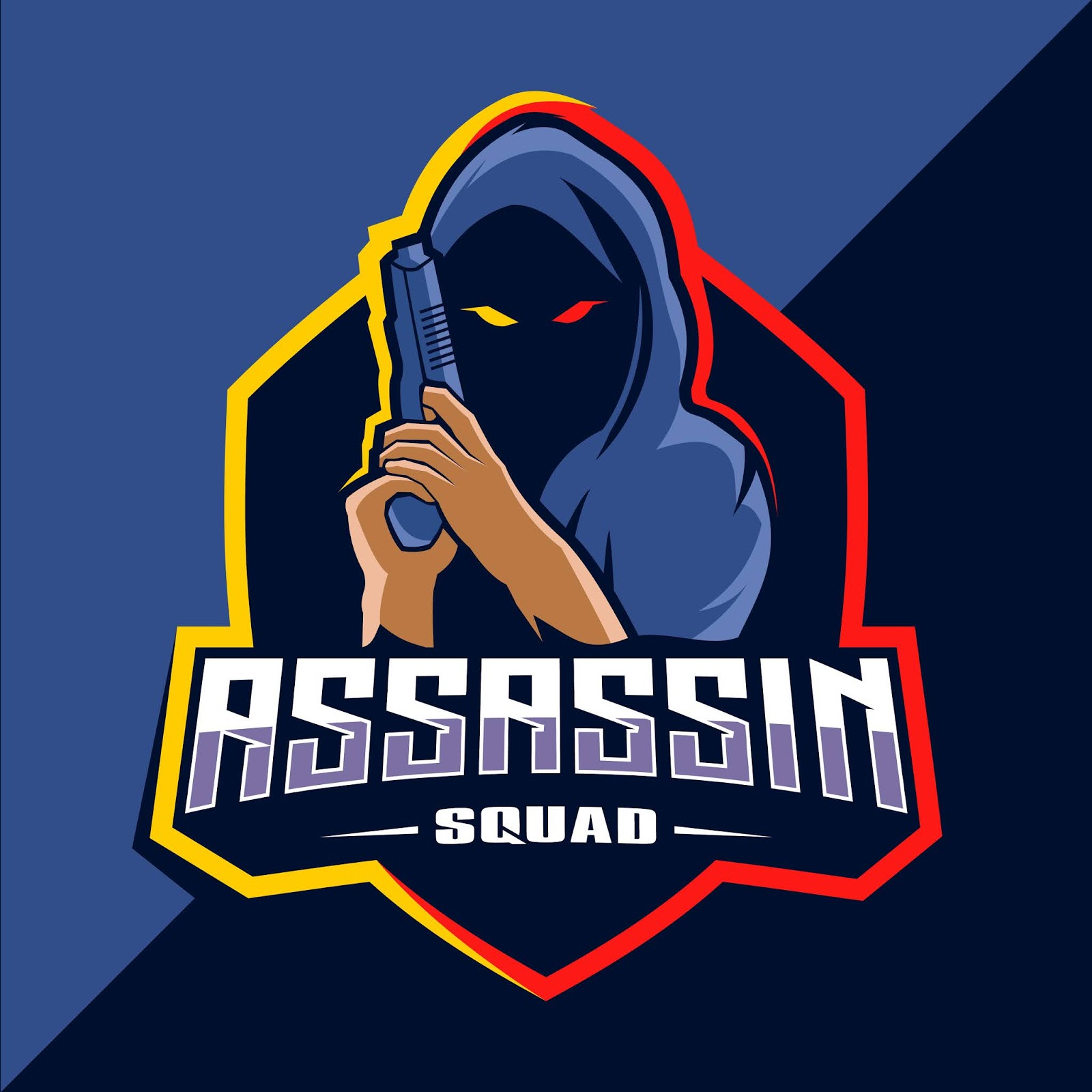 Assassin With Guns Mascot Free Download Vector CDR, AI, EPS and PNG Formats