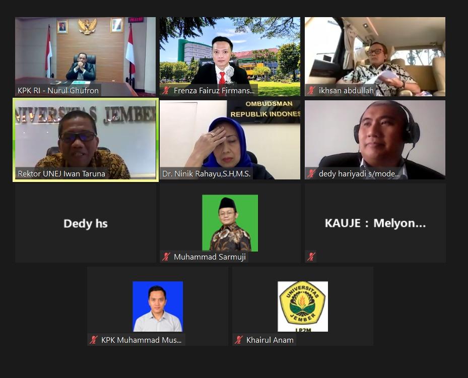 Alumni Unej Saling Buka Data dalam Webinar Kauje-LP2M