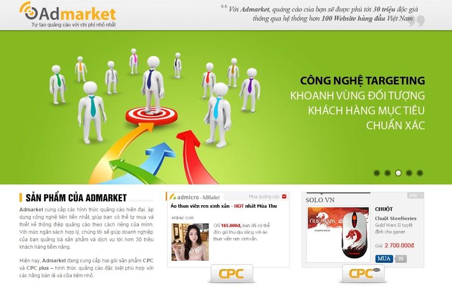 Admarket - Tự quảng cáo với chi phí nhỏ nhất
