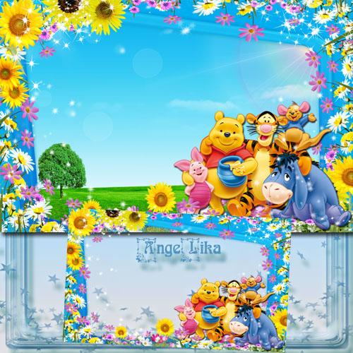 Детская рамка для фото с героями мультфильмов - Лето, солнце и друзья