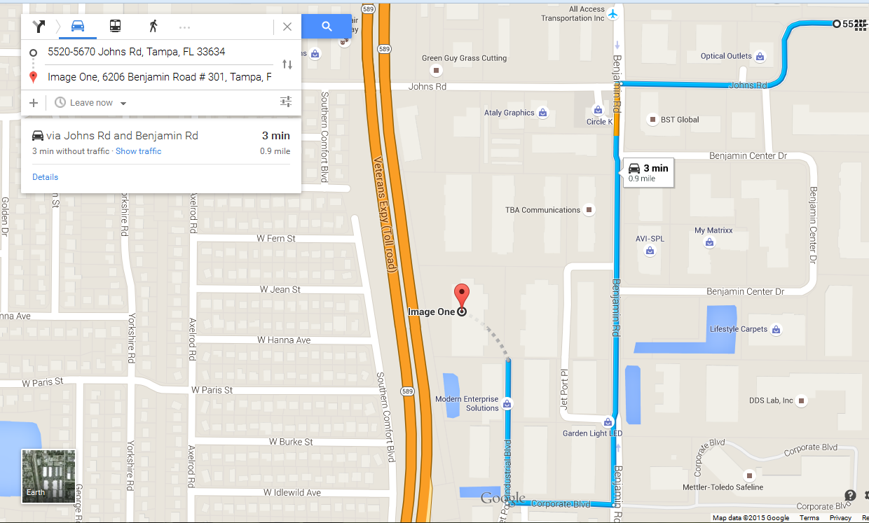 Google Maps think my office is on the interstate - Karte Pomoć