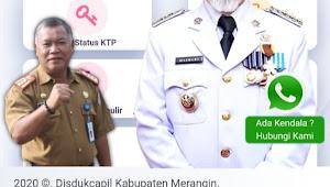 Dukcapil Merangin Himbau Warga Manfaatkan Layanan Online Administrasi Kependudukan