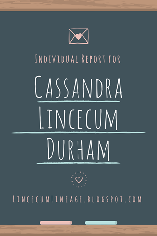 Individual Report - CLDurham