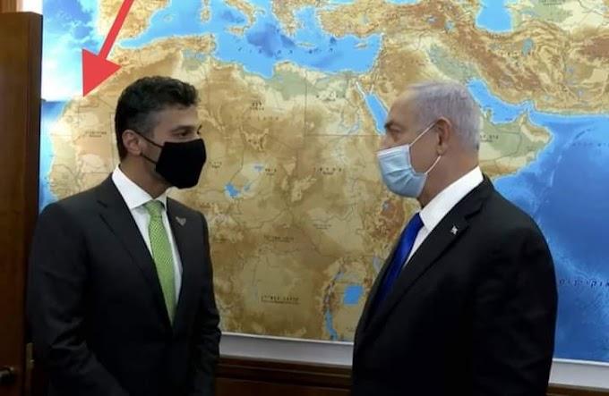 La oficina de Netanyahu sigue manteniendo el mapa oficial de Marruecos separándolo del Sáhara Occidental.