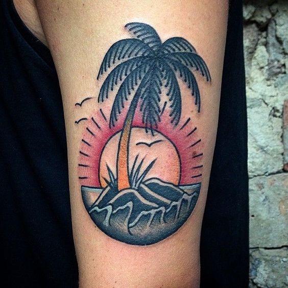 contemporneo_de_palma_braço_de_tatuagem