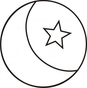 Riscos de Lua - lua com estrela e sol