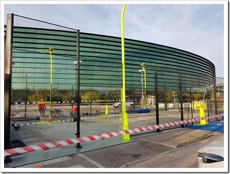 La instalación de la pista empezó el martes pasado y estará lista para su inauguración este viernes 6 de octubre a partir de la 17:00