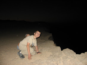 Photo: Benjy being occulted by Jesse next to where the asteroid hit!