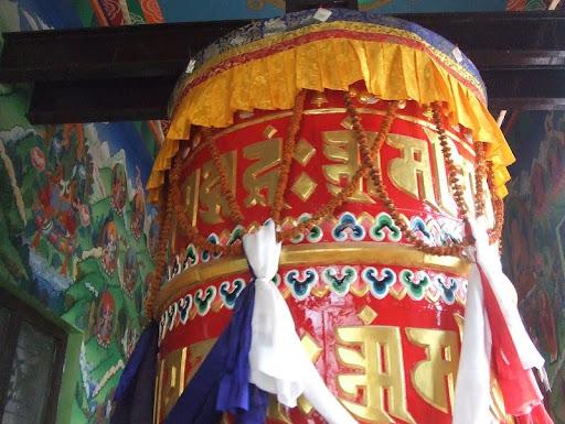New prayer wheel at Tamang gompa Boudha, Nepal, built under Losang Namgyal Rinpoche's guidance. Photo courtesy of Losang Namgyal Rinpoche.