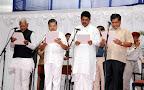 New Ministers Swearing: (L to R) CM Udasi, Dr. VS Acharya, R Ashok & Jagdesh Shettar