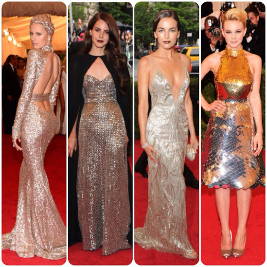 Metallic Dresses Met Gala Fashion and Style