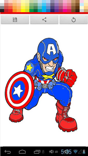 Coloring Captain American