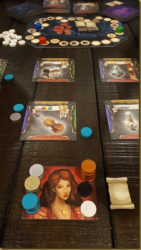 The Reputation Track, Market Tiles, and Player Card