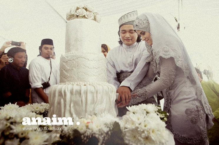 Gambar kek kahwin Ana Raffali Aznaim