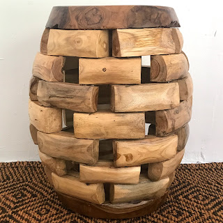 Indonesian Drum Side Table