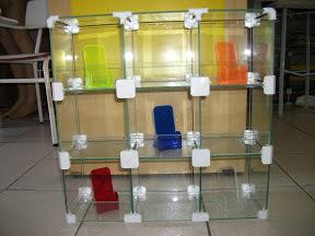 foto 1 de Balcão modulado em vidro temperado 4mm