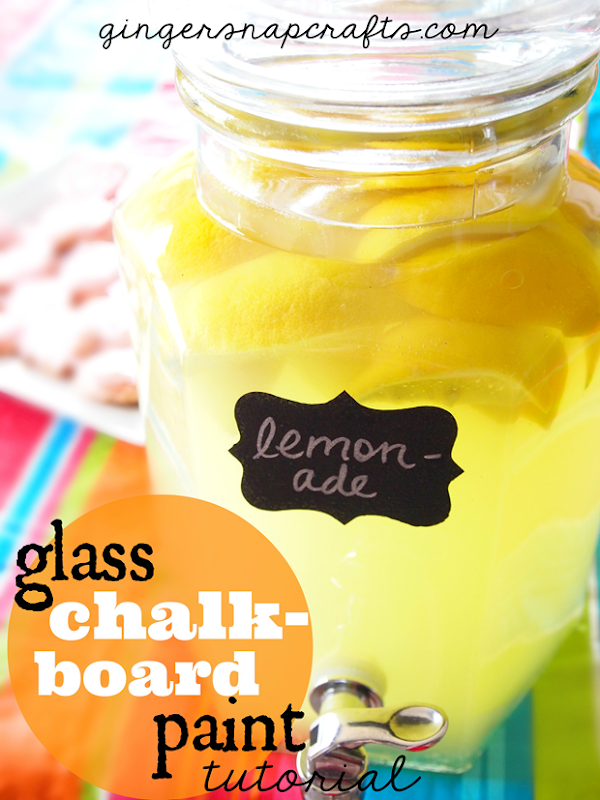 glass chalkboard paint tutorial at GingerSnapCrafts.com #glasspaint #chalkboard #tutorial