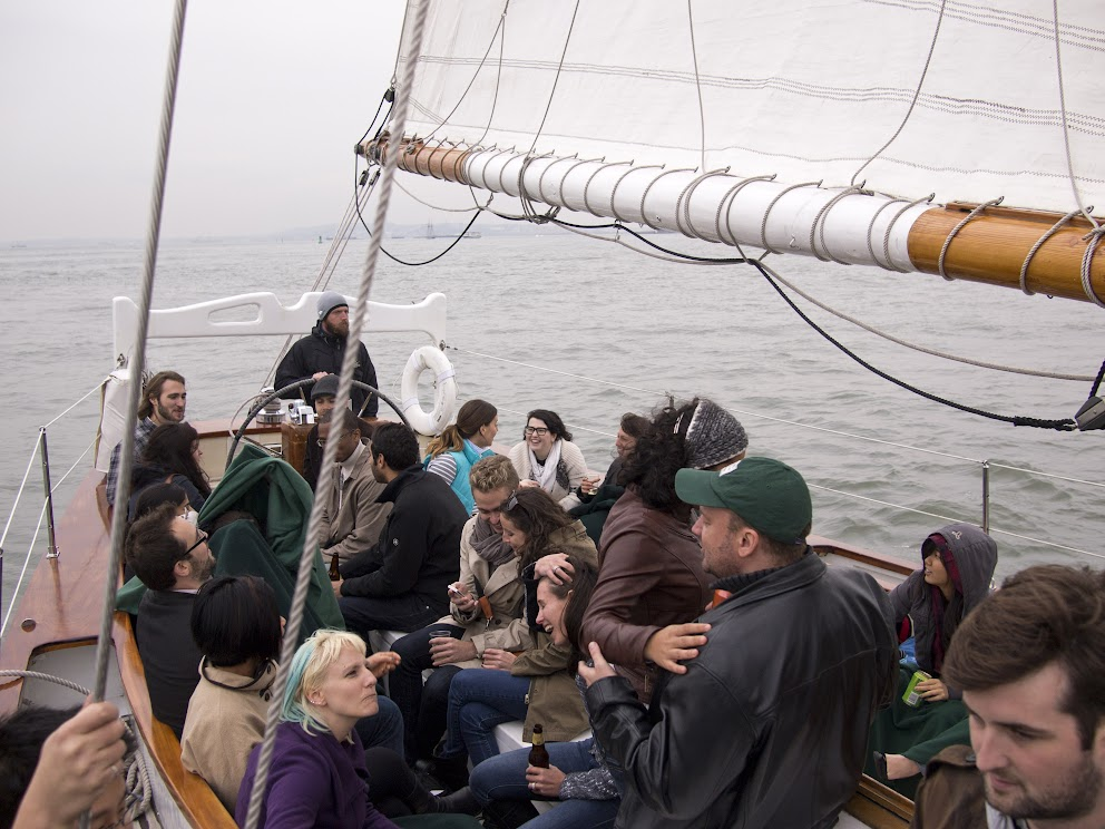 HowAboutWe team on a sailboat