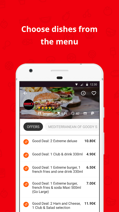 e-FOOD Delivery- screenshot