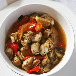 Slow Cooker Mediterranean Eggplant.