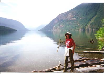 Rebecca at Ross Lake