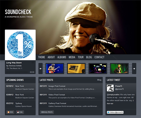 Soundcheck WordPress Theme for Bands