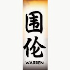 warren - W Chinese Names Designs