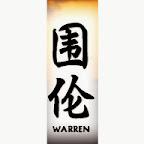 warren - W Chinese Names Designs