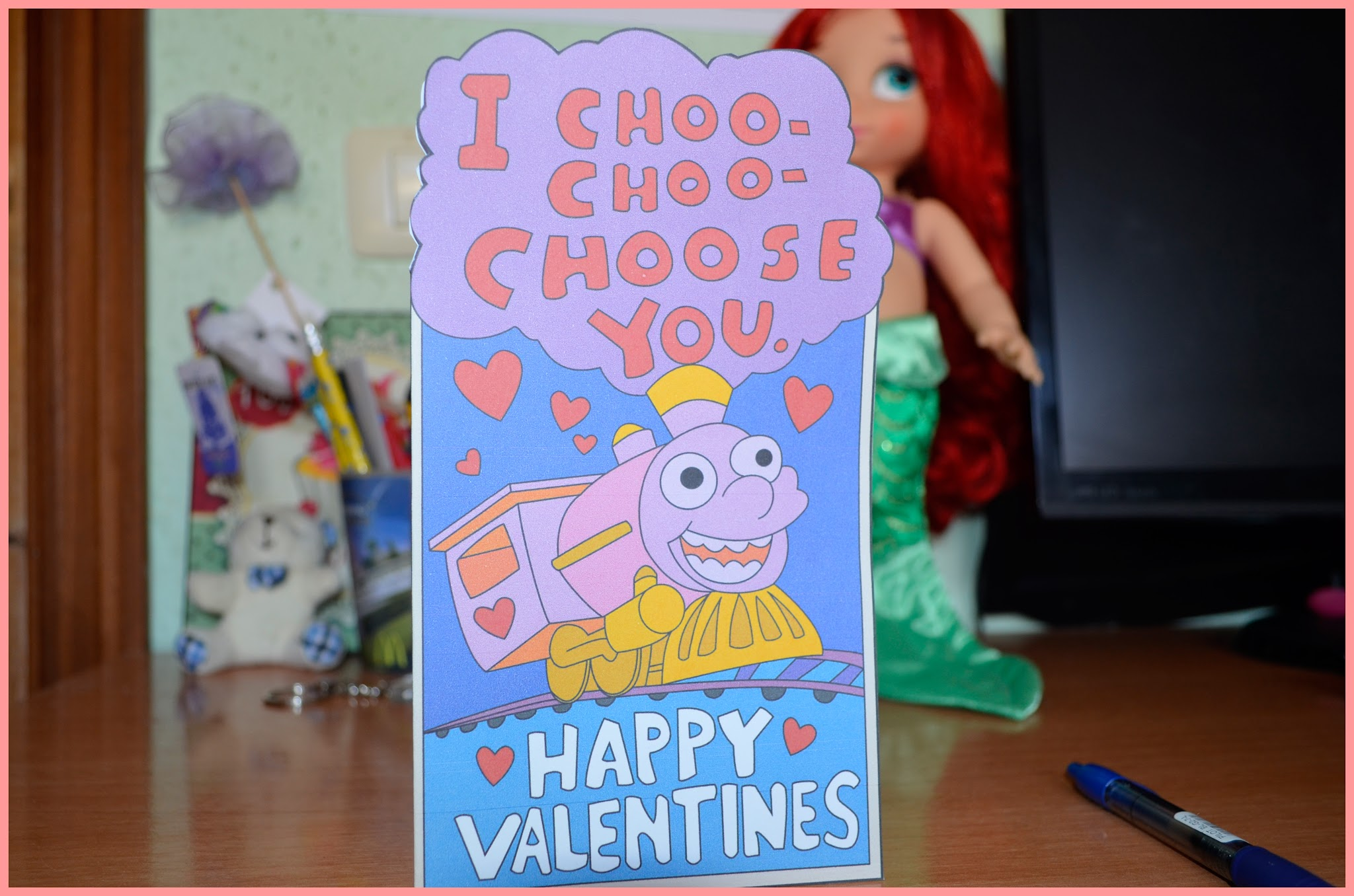 I choo choo choose you - Tarjeta