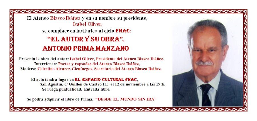 El autor y su obra: Antonio Prima Manzano