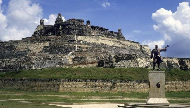 Castillo de San Felipe de Barajas en Cartagena de Indias