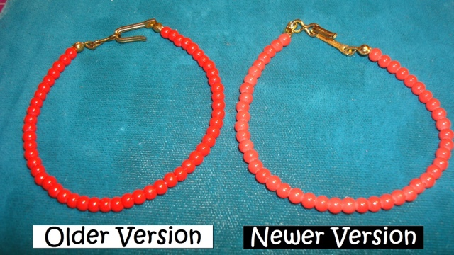 Red Coral Beaded Necklace for 18 Inch Doll American Girl Felicity Jewelry
