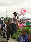 Opening speakers at the Pink Ribbon Walk.